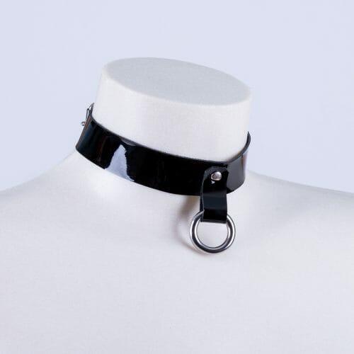 """Collar """"Slave"""" charol"""